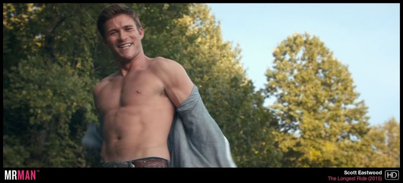 """Scott Eastwood shirtless in """"The Longest Ride."""""""