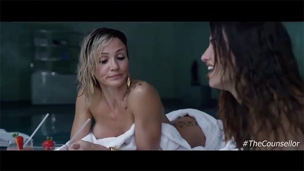 Naked girls in camp shower