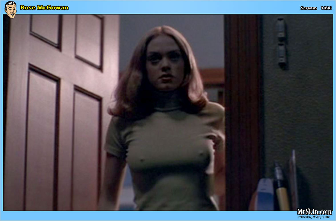 Celebrity Rose McGowan Striptease And Nude Tits Movie Scenes