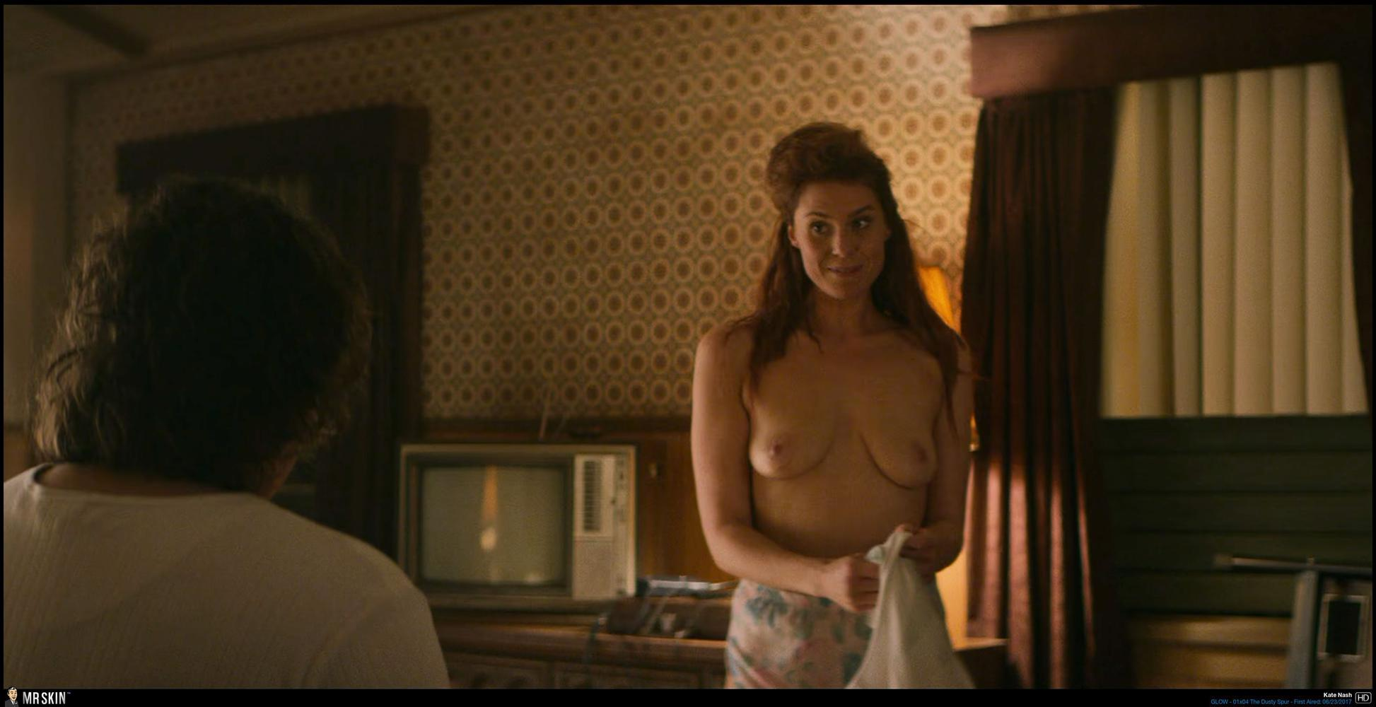 Alison Brie Glow Boobs tv nudity report: glow, i'm dying up here, riviera, kingdom,